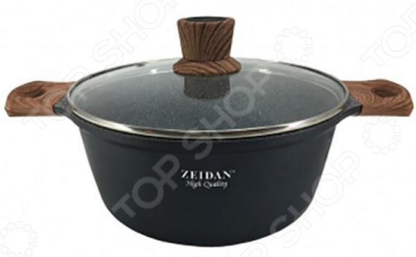 Кастрюля Zeidan Granite Bronze кастрюля zeidan с крышкой 5 л