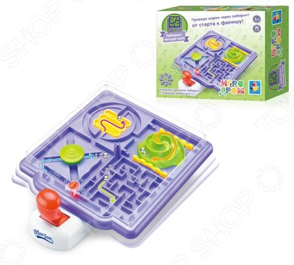 Игра настольная развивающая 1 Toy «Лабиринт 4 поля»