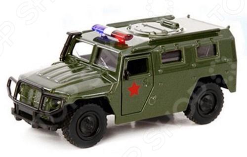Машинка инерционная металлическая PlaySmart «Военная»