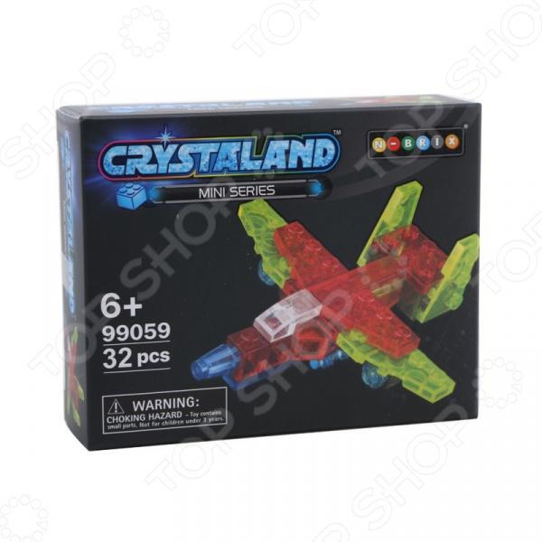 Конструктор игрушечный N-BRIX Crystaland «Мини Самолет» lite brix самолет 35814