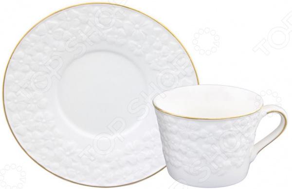 Чайная пара Elan Gallery «Белоснежные цветы»