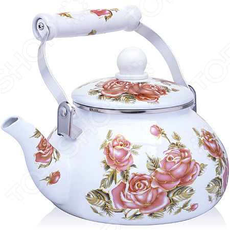Чайник эмалированный Mayer&Boch «Розы» 27978