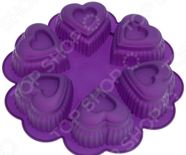 Форма для выпечки Marmiton «Сердце», 6 ячеек. В ассортименте