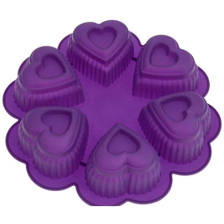 Купить Форма для выпечки Marmiton «Сердце», 6 ячеек. В ассортименте