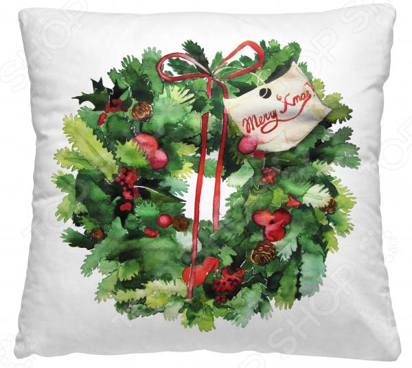 Подушка декоративная Волшебная ночь «Венок с листьями»