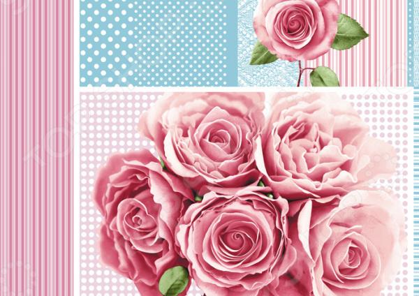 Полотенце вафельное ТексДизайн «Розали» полотенце для кухни арти м джинсовое сердце