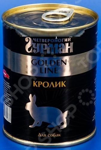 Корм консервированный для собак Четвероногий Гурман Golden «Кролик натуральный в желе» корм флатазор купить в ульяновске