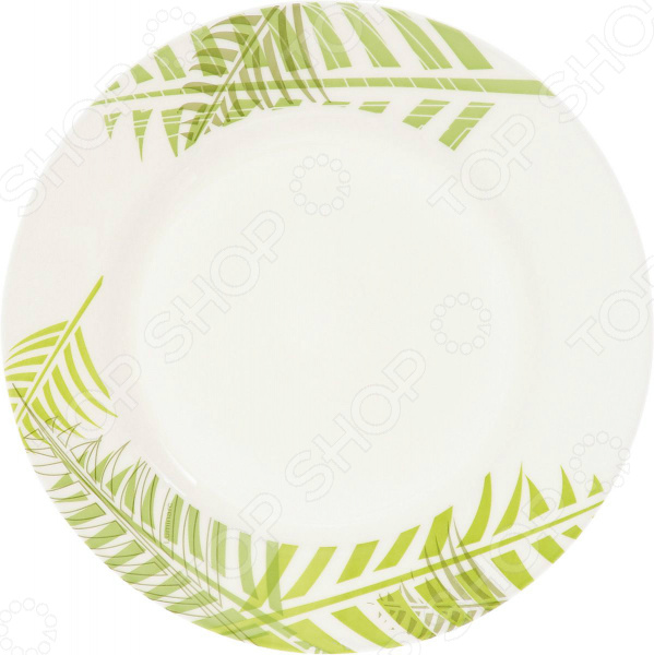 Тарелка десертная Luminarc Green Forest набор столовой посуды luminarc every day директор белый