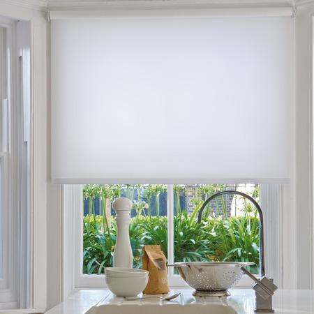 Купить Рулонная штора Эскар однотонная. Цвет: белый
