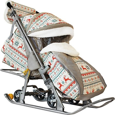 Купить Санки-коляски Galaxy Kids 1 «Белая ночь»