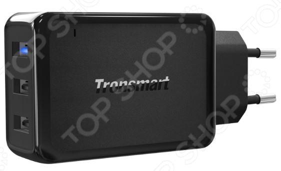 Устройство зарядное сетевое Tronsmart с тремя портами QC 3.0 и VoltIQ