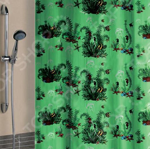 Штора для ванной «Водоросли»
