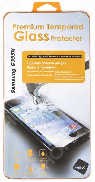 Стекло защитное skinBOX Samsung Galaxy Core 2 SM-G355H чехол для для мобильных телефонов oem 3d samsung galaxy core 2 g355h for samsung galaxy core 2 dual sim g355h