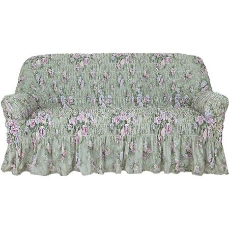 Купить Натяжной чехол на трехместный диван Еврочехол «Фантазия. Феличита»