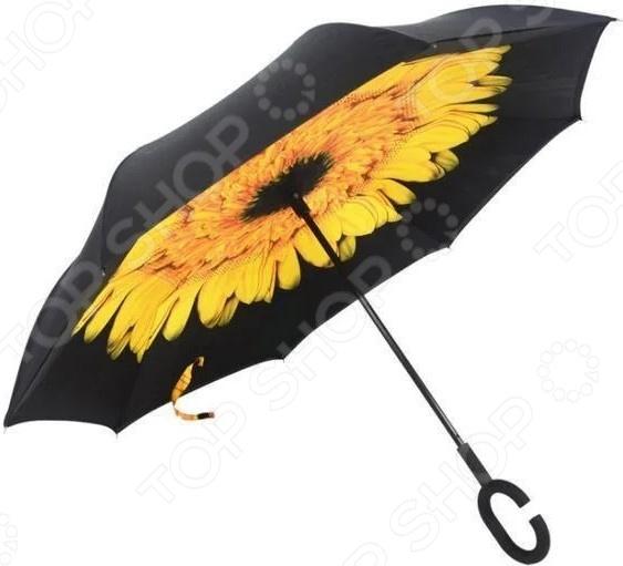Зонт с обратным открыванием «Подсолнух»