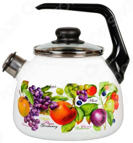 Чайник эмалированный со свистком Vitross Confitura