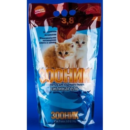 Купить Наполнитель для кошачьего туалета ЗООНИК силикагелевый