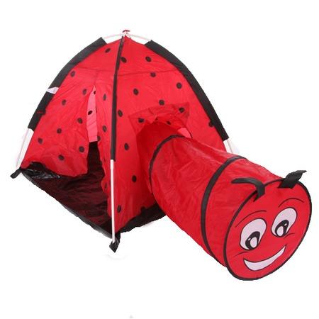 Купить Палатка игровая с туннелем IPlay «Божья коровка»