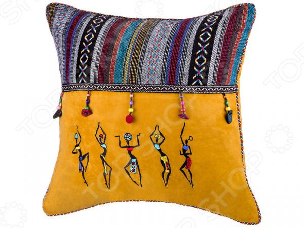 Подушка декоративная Santalino «Африка» 850-854-62 сидушка на стул santalino райский сад 850 818 5