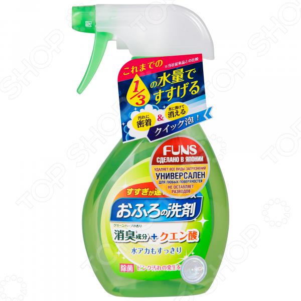 Спрей чистящий для ванной комнаты FUNS «Зеленый бамбук» средства для уборки funs спрей чистящий для дома на основе пищевой соды funs 400 мл