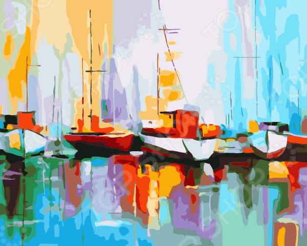Набор для рисования по номерам Color Kit «Цветные лодки в порту»