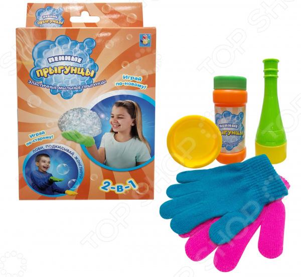 Мыльные пузыри нелопающиеся 1 Toy «Пенные Прыгунцы 2-в-1» мыльные пузыри markethot нелопающиеся желтый