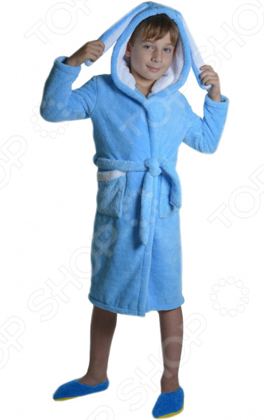 Халат для мальчика Dream Time «Зайка». Цвет: синий