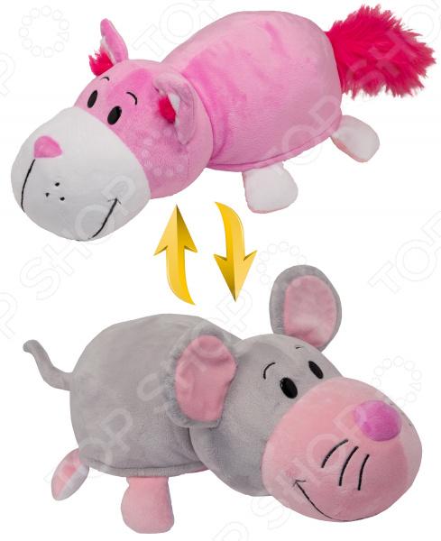 Мягкая игрушка 1 Toy «Вывернушка 2в1: Розовый кот-Мышка»