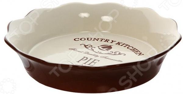 Форма для выпечки круглая Terracotta «Кухня в стиле Кантри» форма для выпекания керамика kitchenaid набор kblr02mbac 2шт по 0 45л