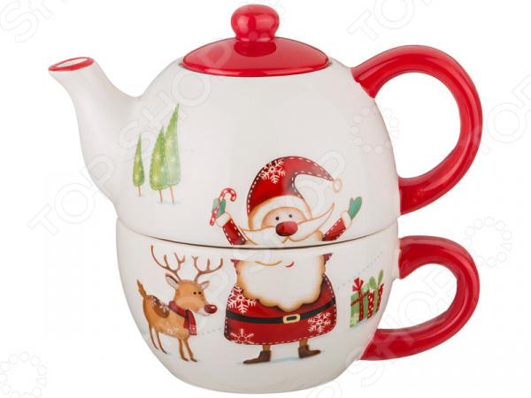 Чайник заварочный с чашкой Lefard Happy New Year 230-123