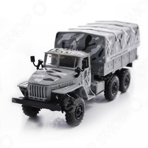 Машина инерционная со светозвуковыми эффектами PlaySmart «Автопарк. Пограничные войска» самосвал play smart автопарк инерционный со светозвуковыми эффектами р41438
