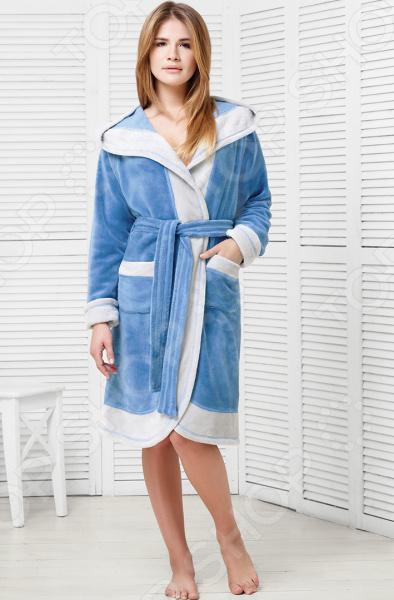 Халат женский Funny Bunny Sport. Цвет: голубой халат мужской funny bunny sport цвет джинс 9060117179 размер xxxl 56
