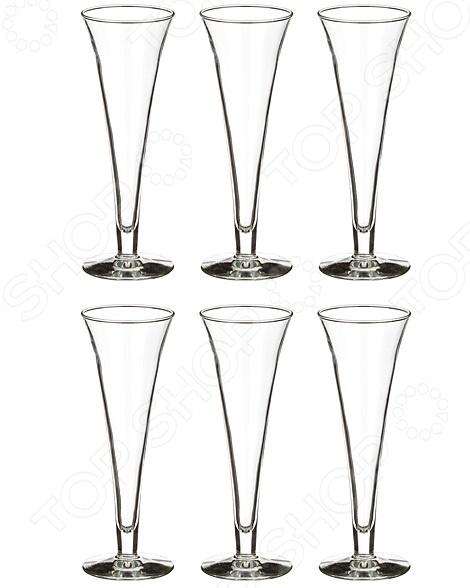 Набор бокалов для шампанского Durobor Royal набор бокалов crystalex джина б декора 6шт 210мл шампанское стекло