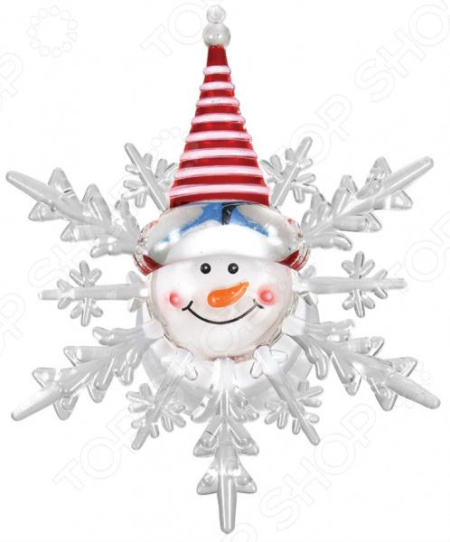 Фигурка светодиодная на присоске VEGAS «Снеговик» 55054 цена