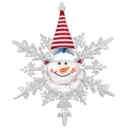 Купить Фигурка светодиодная на присоске VEGAS «Снеговик» 55054