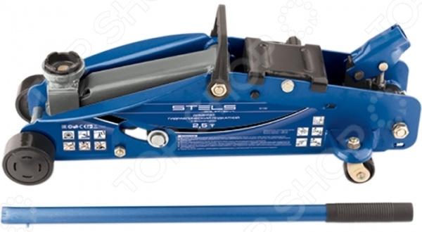 Домкрат гидравлический подкатной Stels Safety Pin 51132