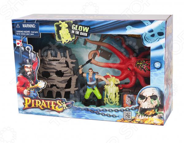 Игровой набор с фигурками Chapmei «Пираты: Сражение с осьминогом»