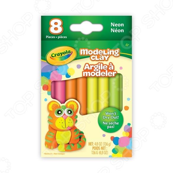 Набор пластилина Crayola неоновый