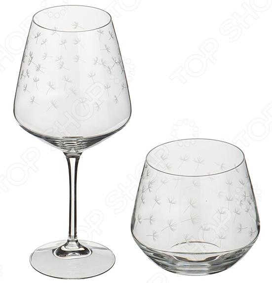 Набор: бокал для вина и стакан для виски RCR «Весна»