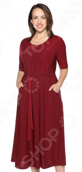 Платье Лауме-Лайн «Ласковый вечер». Цвет: бордовый рубашка женская kepler shirt w цвет зеленый 1401723 7734 размер m 46 48