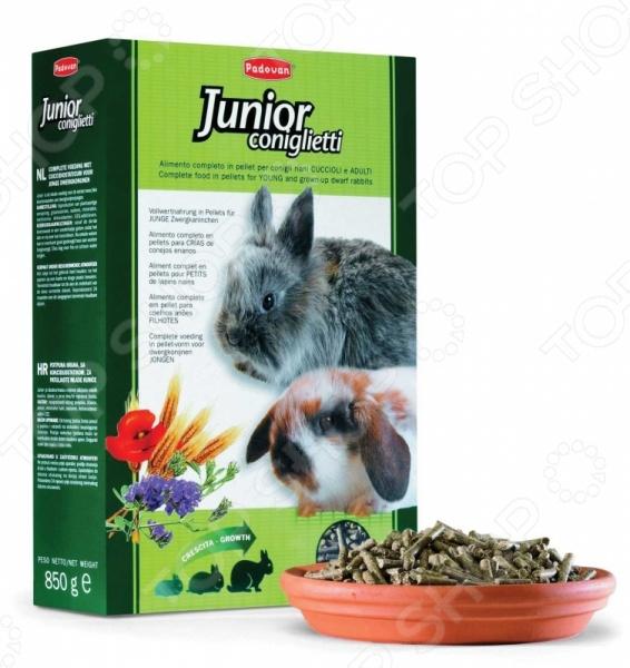 Корм для молодых кроликов Padovan Junior Coniglietti корм флатазор купить в ульяновске