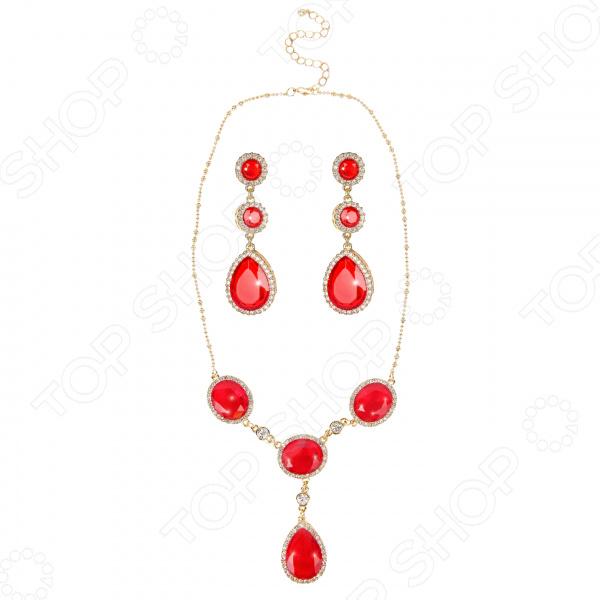 Ожерелье и серьги Laura Amatti «Страстная ночь»