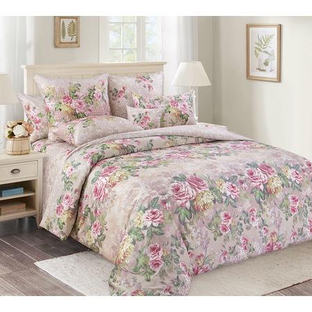 Купить Комплект постельного белья Королевское Искушение «Аллея роз». Тип ткани: сатин. Евро