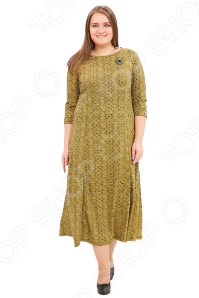 Платье Гранд Гром «Сердца трех». Цвет: желтый