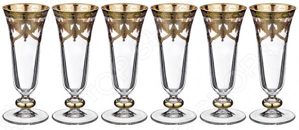 Набор бокалов для шампанского ART DECOR «Амальфи» набор бокалов crystalex джина б декора 6шт 210мл шампанское стекло