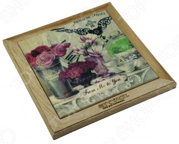 Панно-подставка под горячее Gift'n'home «Парижские цветы» кружка gift n home парижские цветы 350 мл