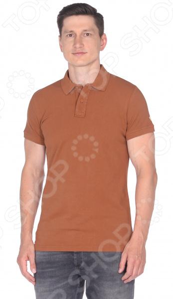 Футболка-поло Milliner 181322035. Цвет: коричневый