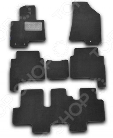 Комплект ковриков в салон автомобиля Novline-Autofamily Kia Sorento 2009-2012. Цвет: черный комплект ковриков в салон автомобиля novline autofamily kia sorento 2003