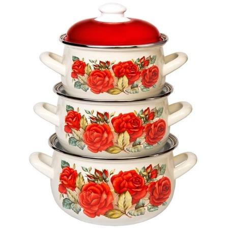 Купить Набор посуды Interos 15869 «Розы»