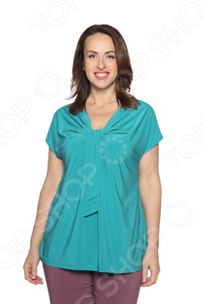 Блуза VEAS «Строгий лоск». Цвет: бирюзовый